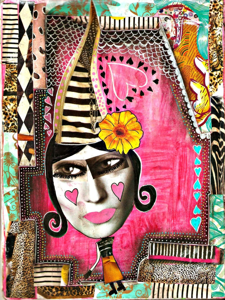 pink whimsical woman