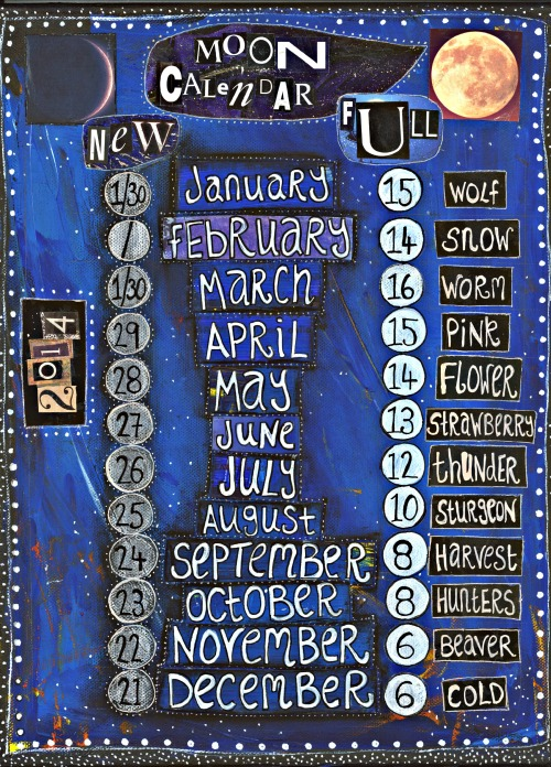 moon calendar 2014
