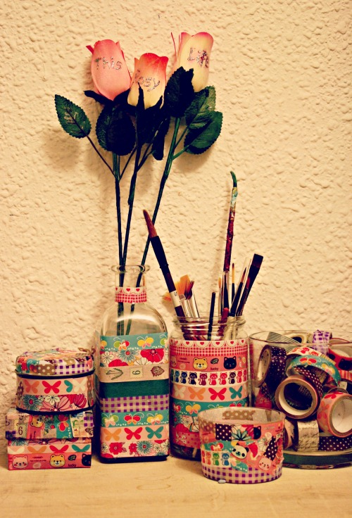 this rosy life roses and washi tape